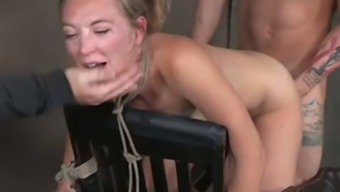 Being Handcuffed All Naked Gentle Haired Moaner Gets Fucked By Men (Fmm)