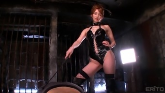 Hottie In Leather-Based Miku Ohashi Taking Pleasure In Back With Her Obedient Lover