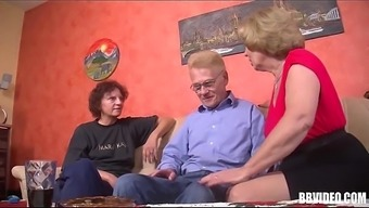 Two In German Age Slags Being Intimate With Angle In Threesome