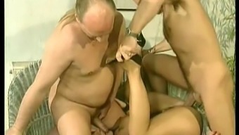German Old Style Busty Tiziana Redford Threesome