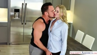Delicious Blonde Riley Reyes Rides A Cock And Gets Her Pussy Fucked Pup Form