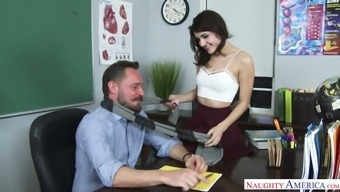 Twisted And Whorish Counter Adria Rae Spreads Both Legs In Front Of Her Person-In-Charge