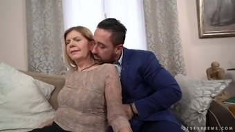 Wrinkly Ugly Age Vagabond Samantha Gets Her Grow Older Cherry Fucked Christian Missionary
