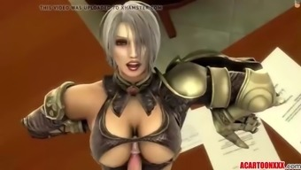 Large Boobs Three-Dimensional Baby Fucked By Different Toons
