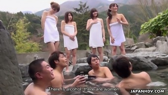 Four Naughty Japanese Females Including Mitsuka Koizumi Join All Men For Intercourse