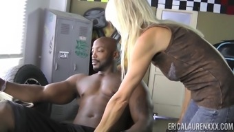 Erica Lauren Gets Naked To Produce A Brown Bf And Grabs His Wiener