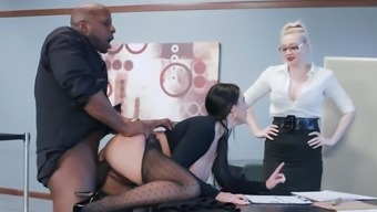Most Desirable Stud Fucks Tight Angela Light Down At The Workplace
