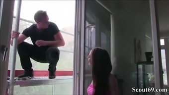 Skinny The German Language Teen Attract To Fuck By Window Deck Cleaner