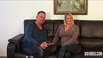 Busty The German Language Milf Can Take Two Different Cocks
