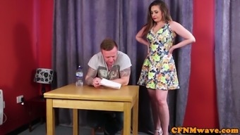 English Femdoms Jerking And Touching Substitute