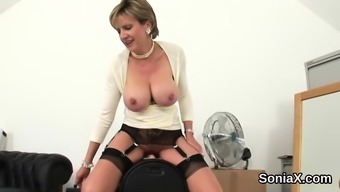 Dishonest English Milf Lady Sonia Announced Her Immense Mammary