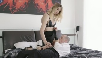 Tall Shemale In Fishnets Casey Kisses Fucks Anal Hole Of One Bald Headed Dude