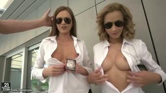 Tina Kay Is Dirty-Minded Whorish Special Agent Who Loves Ffm Threesome