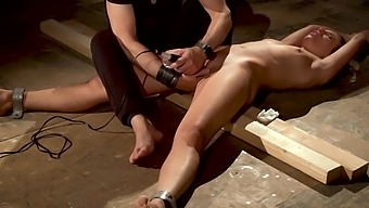 Tied Up Slave Made To Orgasm In Latex Bondage Rough Sex