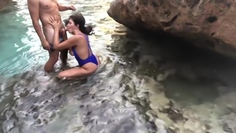 Hot Wife With Big Tits Gets Fucked And Orgasms On A Public Beach