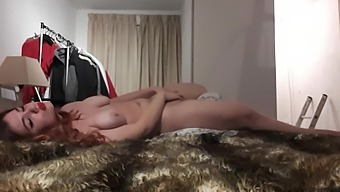 Merry Xmas Ginger Redhead Crazy Cum Show Masturbation In Many Positions