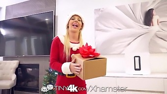 Tiny4k Teens Merry Christmas Gift Cums Early