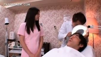 Gorgeous Far Eastern Healthcare Provider Caught Within A Warm Threesome At Work