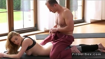 This Type Of Fitness Tutor Cracks Blonde From Behind